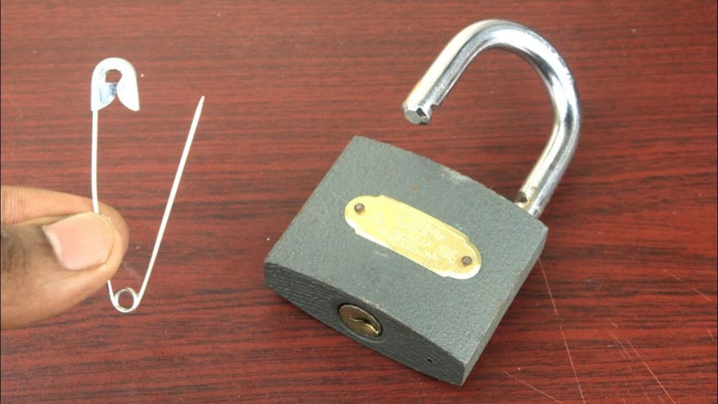 how to break a padlock
